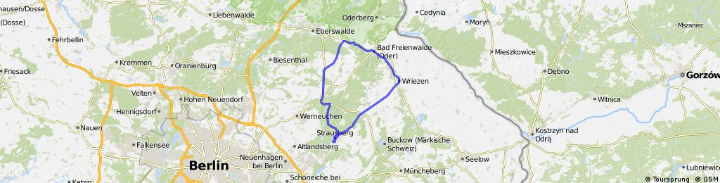 Strausberg-Wriezen-Falkenberg-Strausberg