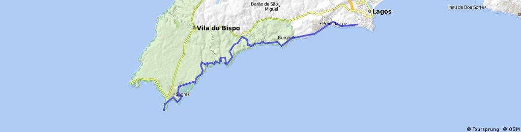 Lagos -Sagres MTB beira mar 44km