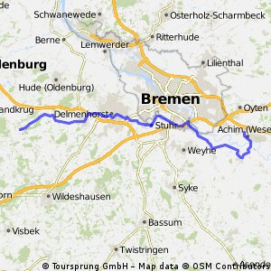 Achim - Kirchhatten 2 über Bremen