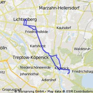 Köpenick - Lichtenberg und zurück