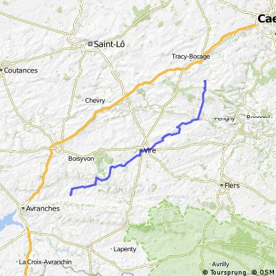 Day 6 to Brecy to Aunay sur Odon (70 km)