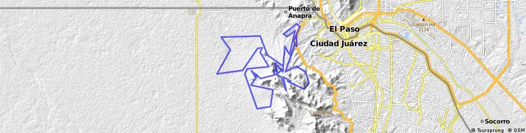 Carrera MTB Chupacabras 2016 100kms  Juarez, Mexico.
