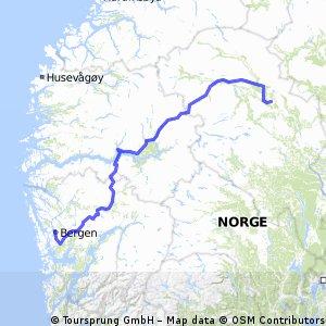 Bergen to Kvam