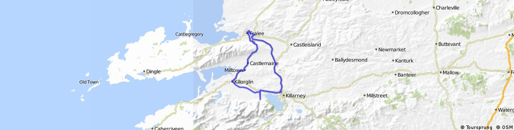 Tralee-Killarney-Gap of Dunloe-Killorglin-Tralee
