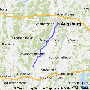 Cycling routes and bike maps in and around Augsburg Bikemap Your