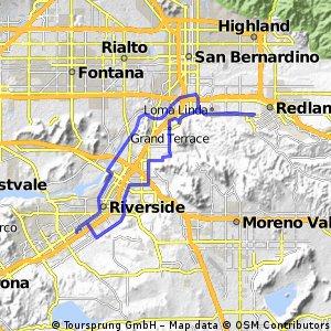 Lengthy ride through Riverside