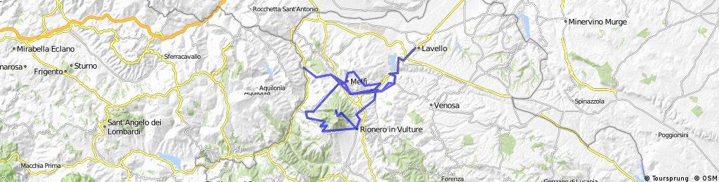 Lavello - Rifugio Vulture - Monticchio - Pisciolo