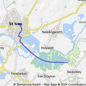 Short bike tour from Cambridge to Saint Ives