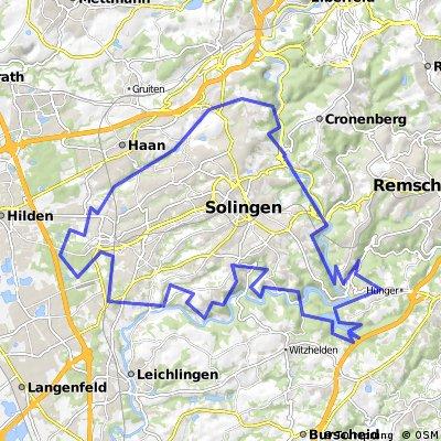 Solingen Klingenpfad 70km und 1800HM