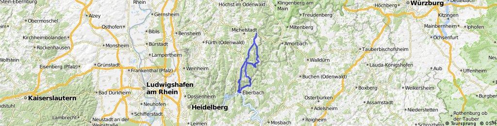 Eberbach - Sensbacher Höhe - Limes - Salmshütte - Eberbach