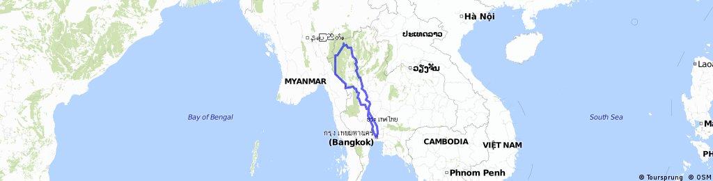 Roberts Thailand Cycle Trip