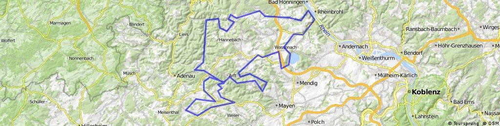 RHODIUS Brohltal RTF der RSF Brohltal e.V. - 151 km Strecke