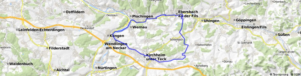 Rundfahrt kleines Lautertal, Kirchheim