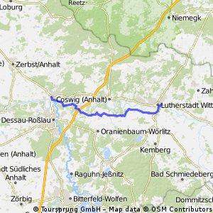 Von Roßlau durchs Wörlitzer Gartenreich nach Wittenberg