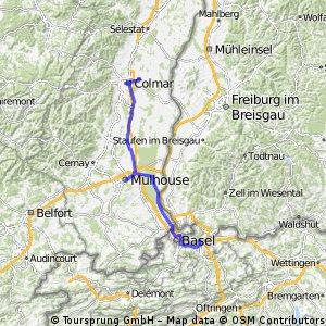 Kaiseraugst-Mulhouse-Colmar (camping)