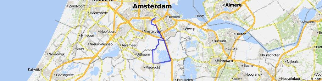 HALF ICAN Amsterdam Triathlon Course
