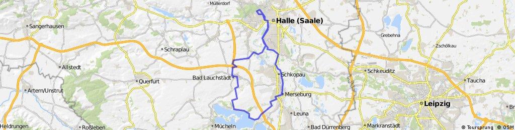 Saale- und Goetheradweg bis Geiseltalsee
