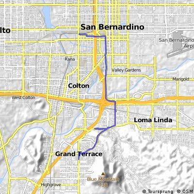 ride from San Bernardino to Grand Terrace