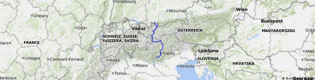 Füssen nach Imst Teil 1+Teil2 nach Nauders+teil3Latsch+teil4 bozen+teil5 Gardasee
