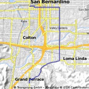 bike tour from Grand Terrace to San Bernardino
