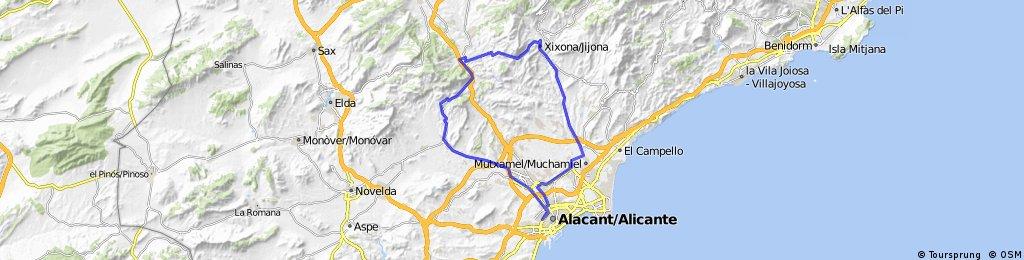 ALICANTE-AGOST-MAIGMO-TIBI-JIJONA-MUTXAMEL-ALICANTE