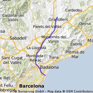 Granollers - San Adrià de Besós - Granollers (Barcelona)