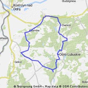 Lubiechnia-Ośno-Żabice-Lubiechnia.62 km