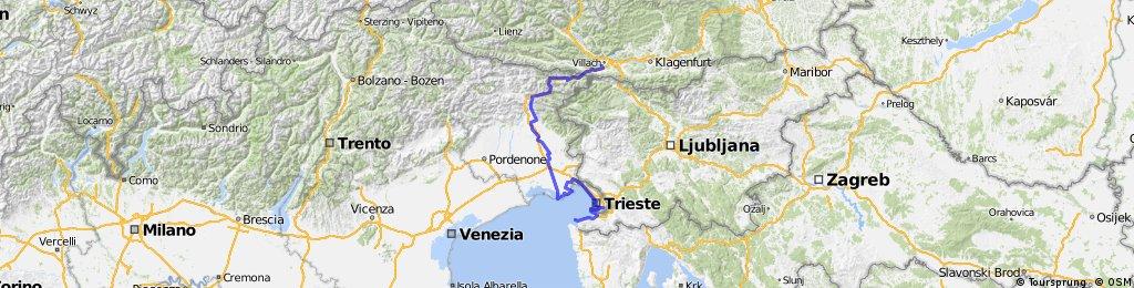 Villach - Grado- Triest - Piran