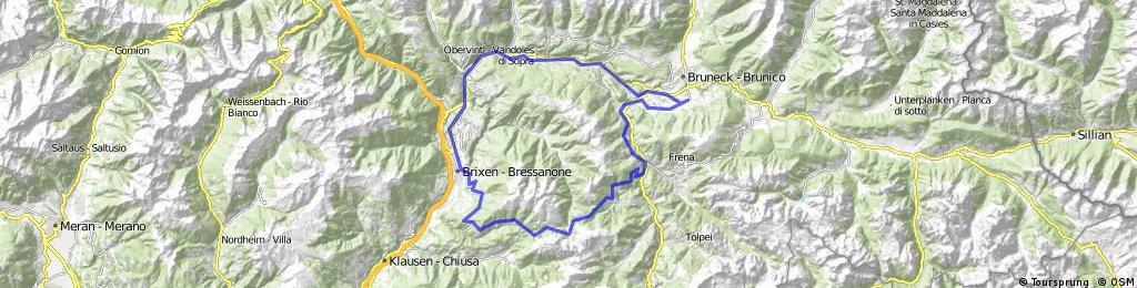 Bruneck-Zwischenwasser-Würzjoch-Palmschoß-Brixen-Bruneck