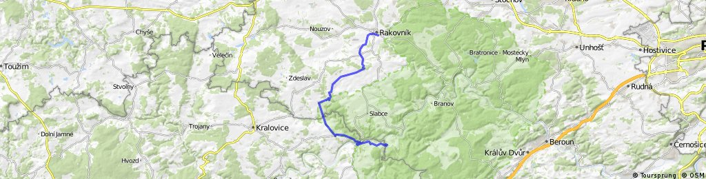 Rakovník - Skryje ( přes Lubnou, Krakovec a Čilou)