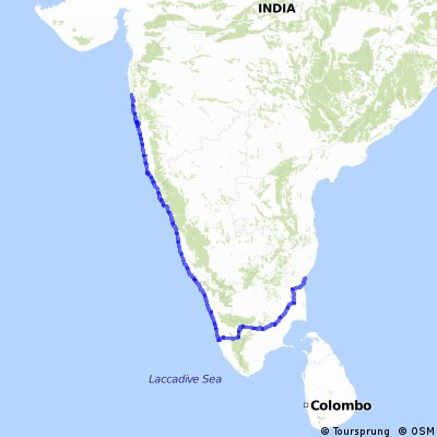 KTM to TN: Stage 3: Southern India