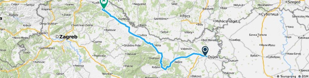 1st stage TOC 2018 Osijek - Koprivnica (17.04.2018.)