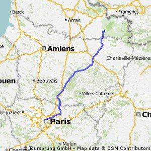 Paris to Fontaine-Au-Bois