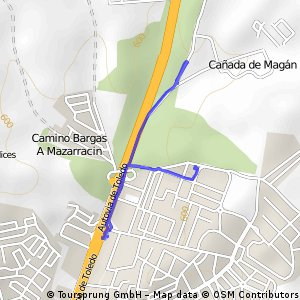 Brief ride from Urbanización Florestera to El Beato
