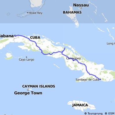 Cuba desde Santiago de Cuba a La Habana