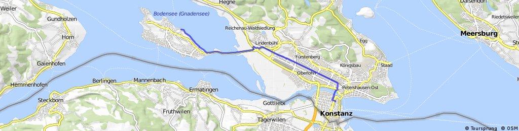 Radrunde von Konstanz nach Reichenau