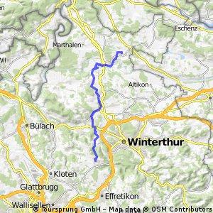 Radrunde von Brütten nach Ossingen