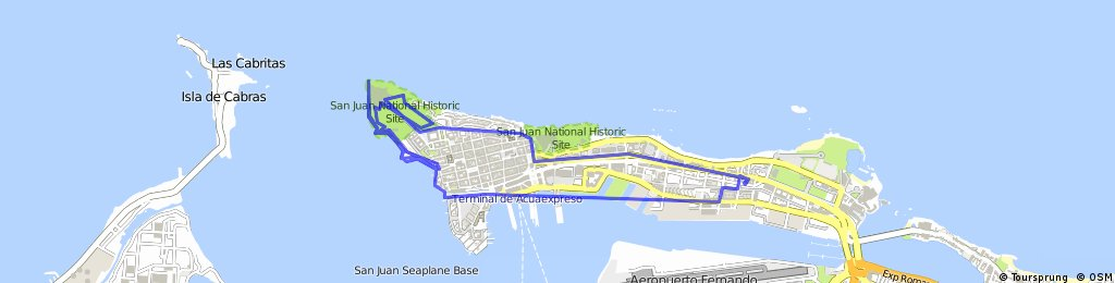 bike tour through San Juan
