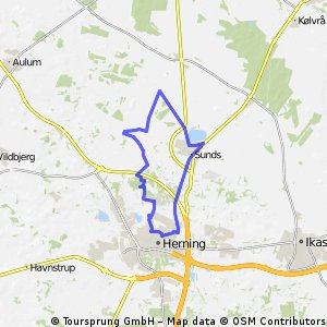 Cycling routes and bike maps in and around Herning Bikemap Your