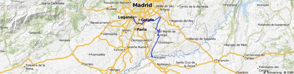 Leganés-Aranjuez. Por la Marañosa