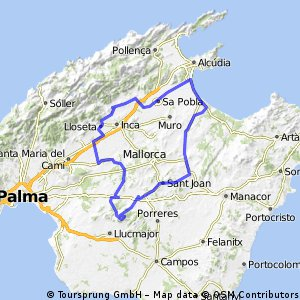 Mallorca   Alcúdia > die Dörfer um Inca > Randa mit einem prachtvollen Blick > Petra > Alcudia
