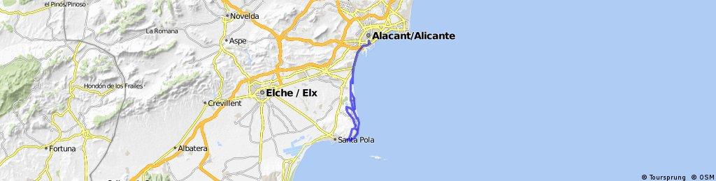 De Alicante al Cabo de Santa Pola