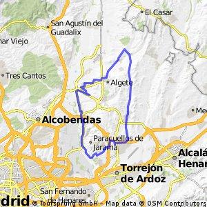 Valdeolmos - Daganzo - Belvis - Algete - Alalpardo - Valdeolmos