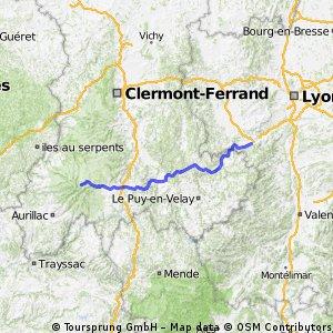 Genf-Bordeaux, 2.Etappe: St. Etienne-Laviegerie (Murat)
