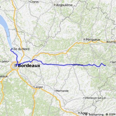D: Saint-Vincent-de-Cosse - Margaux, 4.Etappe-Genf Bordeaux