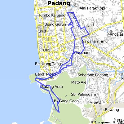 bike tour through Kota Padang