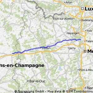 3 Sainte Menehould - Rombas 101km