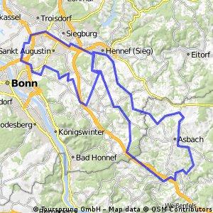BRT2016-Mittwoch: In den Westerwald - 105 km Strecke