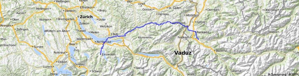 Jakobsweg Satteins - Rankweil - Appenzell - Einsiedeln