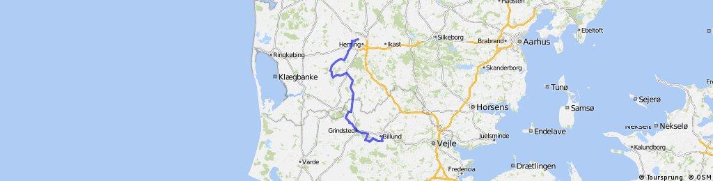 Challenge Billund-Herning 90 km Bike Course